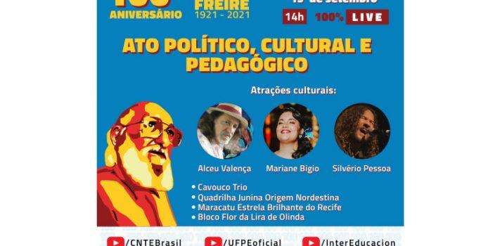 atividades celebração centenário Paulo Freire