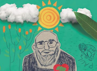 desenho da revista Sem Terrinha sobre Paulo Freire