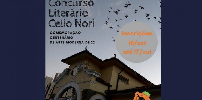 concurso literário Célio Nori - inscrições abertas